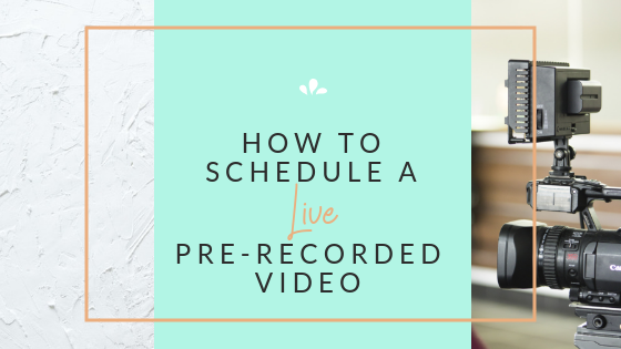 How to schedule a premiere video on Facebook